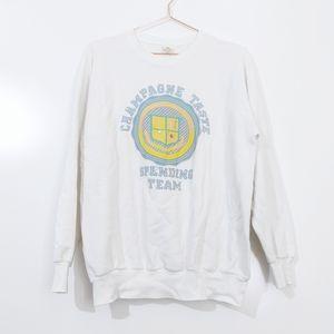 Vtg 1980s Champagne Taste Spending Team Sweatshirt
